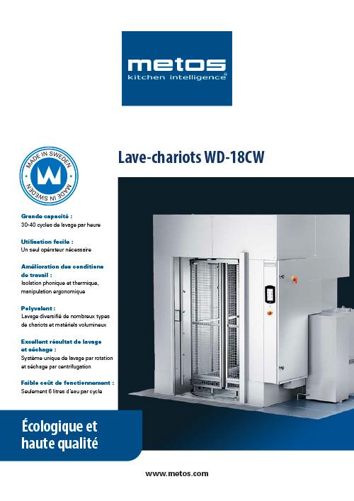 Metos WD18 lave chariots 2021